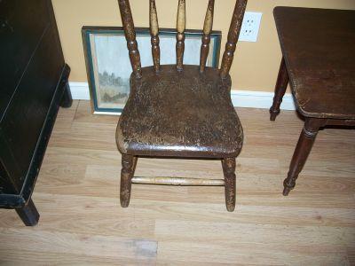 Paire de chaises d'enfant en pin ||| 8