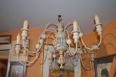 Superbe chandelier 12 feux en pin 10