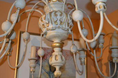 Superbe chandelier 12 feux en pin 2