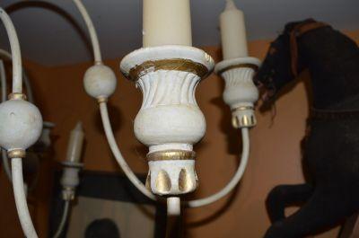 Superbe chandelier 12 feux en pin 6