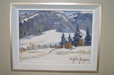 Christian Bergeron huile sur toile 1
