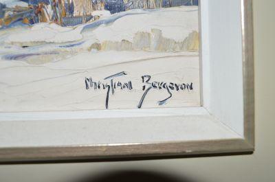 Christian Bergeron huile sur toile 5