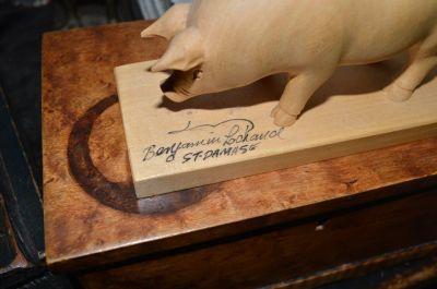 Cochon sculpté 5