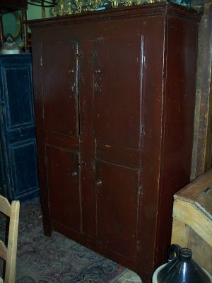 4 doors forged nails pine cupboard 8