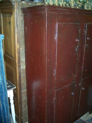 4 doors forged nails pine cupboard 5