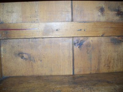 4 doors forged nails pine cupboard 7
