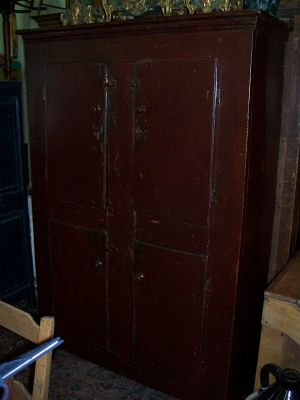 4 doors forged nails pine cupboard 9