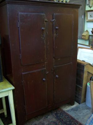 4 doors forged nails pine cupboard 1