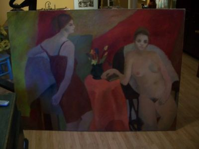 Large oil on canvas from Durand 1963 6