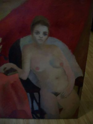 Large oil on canvas from Durand 1963 10