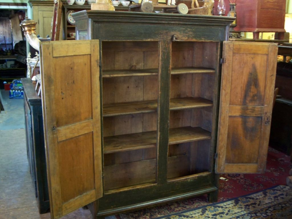 small size pine cupboard antiques. Black Bedroom Furniture Sets. Home Design Ideas