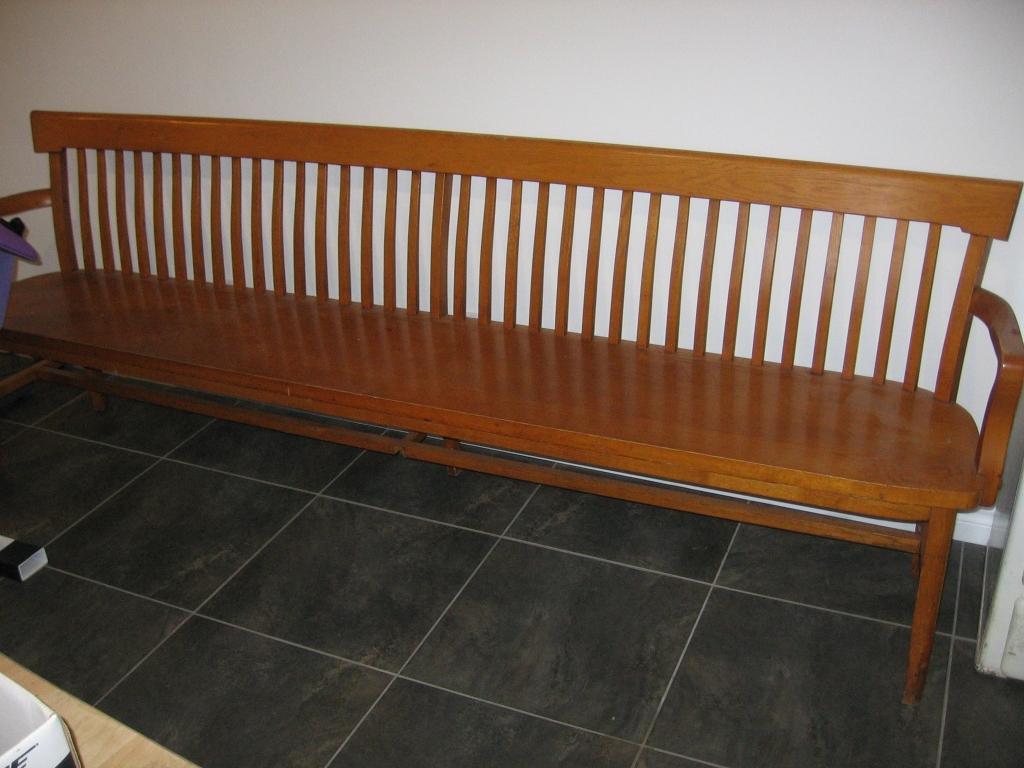 banc en ch ne traverse antiquit s. Black Bedroom Furniture Sets. Home Design Ideas