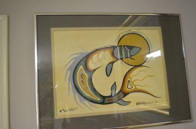 Douglas Akekagumick acrylique sur papier  3