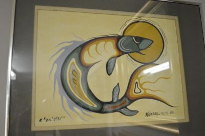 Douglas Akekagumick acrylique sur papier  4