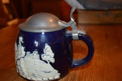 Wedgewood mug with pewter lid 9