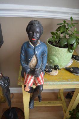 Sculpture  serviteur noir 2