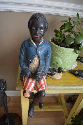 Sculpture  serviteur noir 3