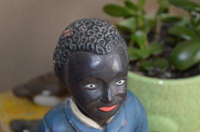 Sculpture  serviteur noir 4