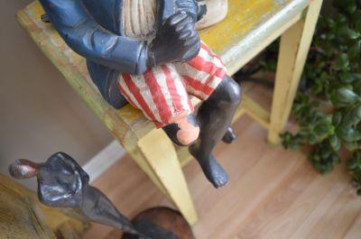 Sculpture  serviteur noir 5