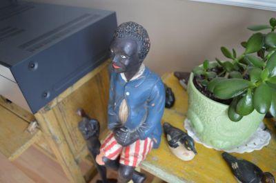 Sculpture  serviteur noir 8