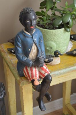 Sculpture  serviteur noir 1