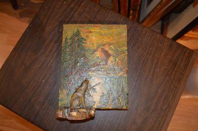 Petite peinture avec sculpture polychrome 10