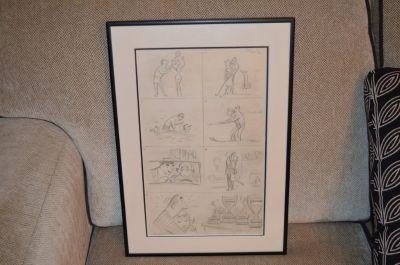 Planche de caricatures d'Albert Chartier 2