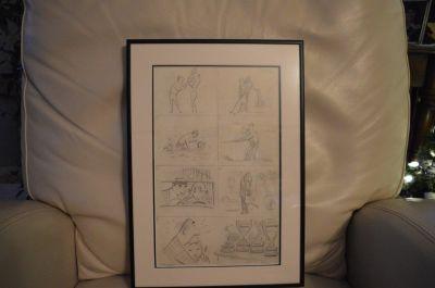 Planche de caricatures d'Albert Chartier 1