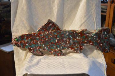 Roger Dumont  grande sculpture de poisson 2