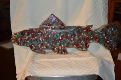 Roger Dumont  grande sculpture de poisson 5