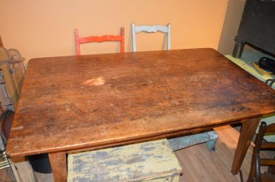 3 boards large top pine table  5