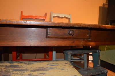 3 boards large top pine table  4