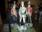 Antiquit� Paire de sculptures de soldats extraordinaires, Antiquit�s
