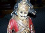 Paire de sculptures de soldats extraordinaires - Antiquit�s