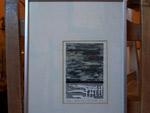 Landscape etching from Paule Lamarche - Antiques