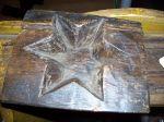 Antiquité Moule à sucre en forme d'étoile, Antiquités
