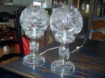 Paire de lampes en cristal pinwheel