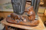 Castors sculptés