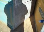 Armoire en pin 4 portes panneaux soulevés doubles - Antiquités