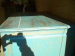 4 door pine cupboard w double raised panels.7