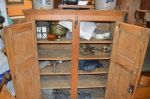 raised panels small pine cupboard - Antiques