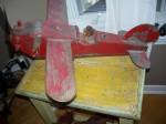 Belle avion folk de gros format - Antiquités