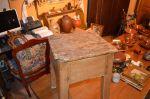 Banc en pin 18e  - Antiquités