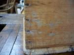 Bo�te � sel en pin clous carr�s  - Antiquit�s