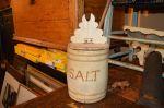 boîte à sel en pin - Antiquités