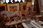 attelage chevaux et voiture sculptés3
