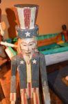 Oncle Sam , art-populaire sculpture - Antiquités