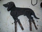 Antiquité Gratte bottes en forme de chien, Antiquités