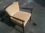 Chaise au Design Retro beige et brun