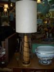 Grande lampe de table érable et laiton